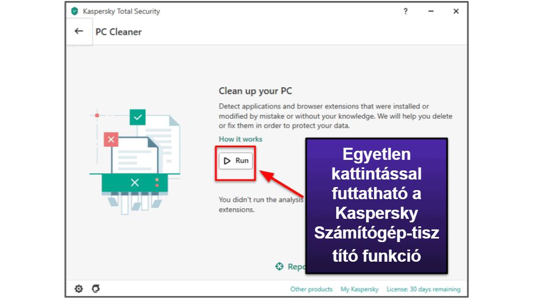 A Kaspersky biztonsági funkcionalitásáról