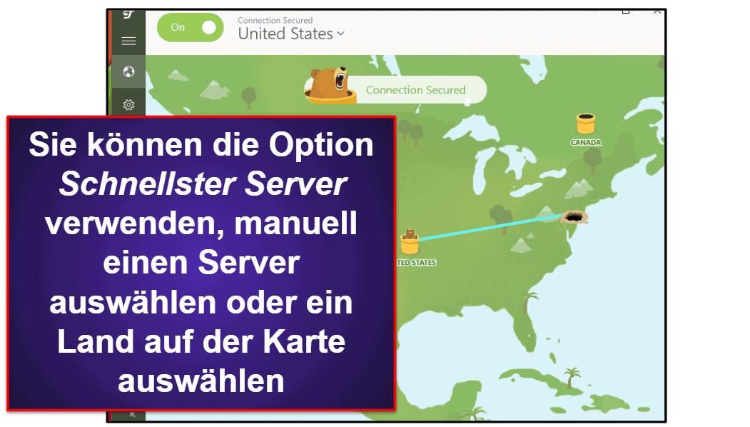 TunnelBear Benutzerfreundlichkeit: Mobile & Desktop-Apps