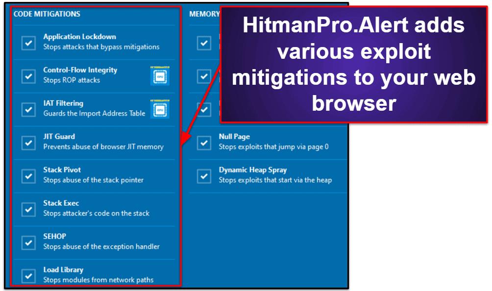 HitmanPro.AlertSecurity Features