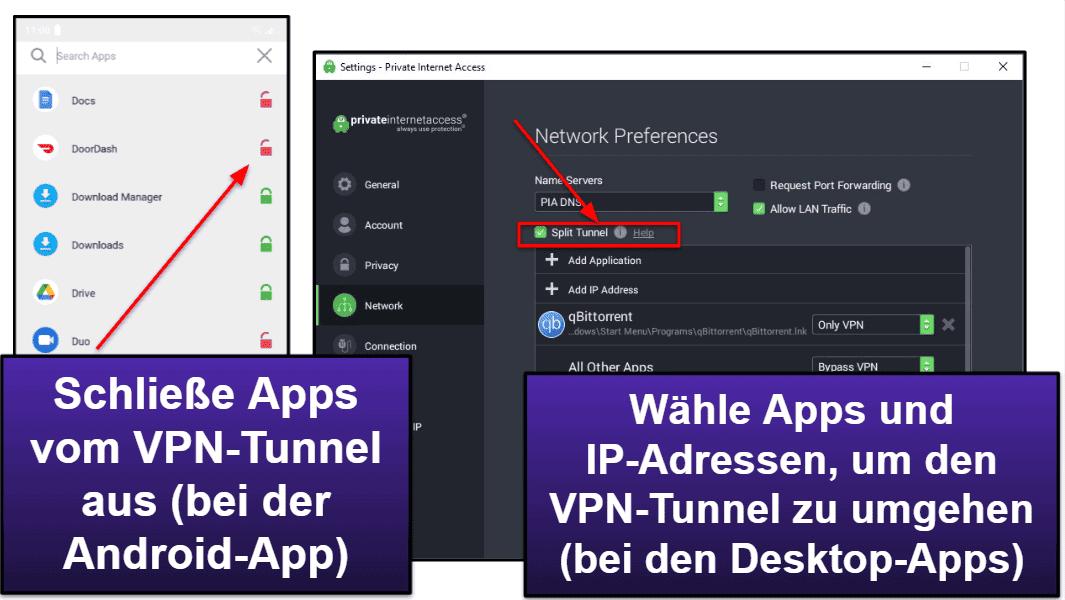 Private Internet Access Funktionen