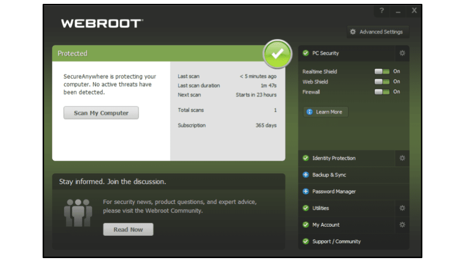 Webroot: Avis complet
