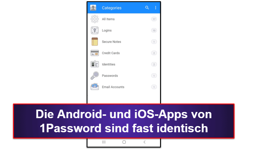1Password Mobile App