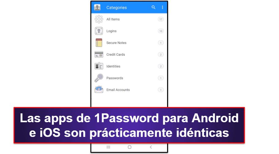 App móvil para 1Password