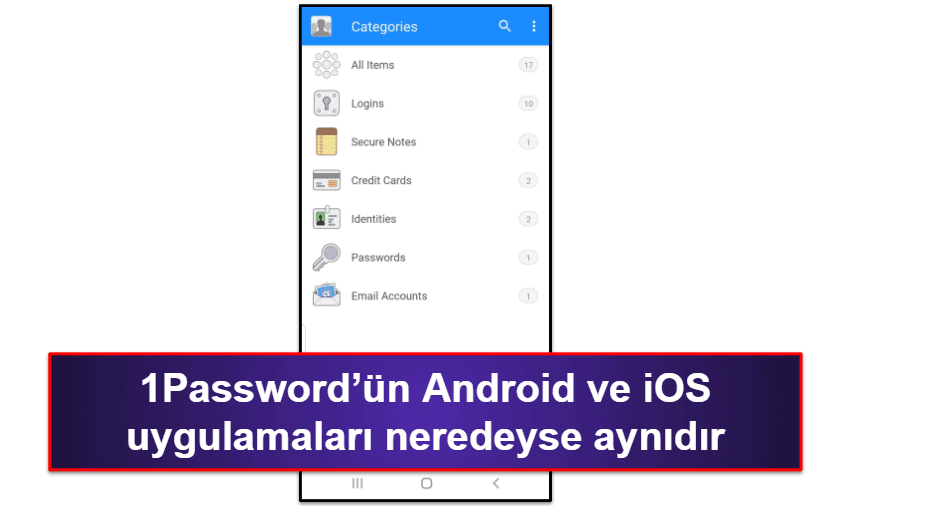 1Password Mobil Uygulaması