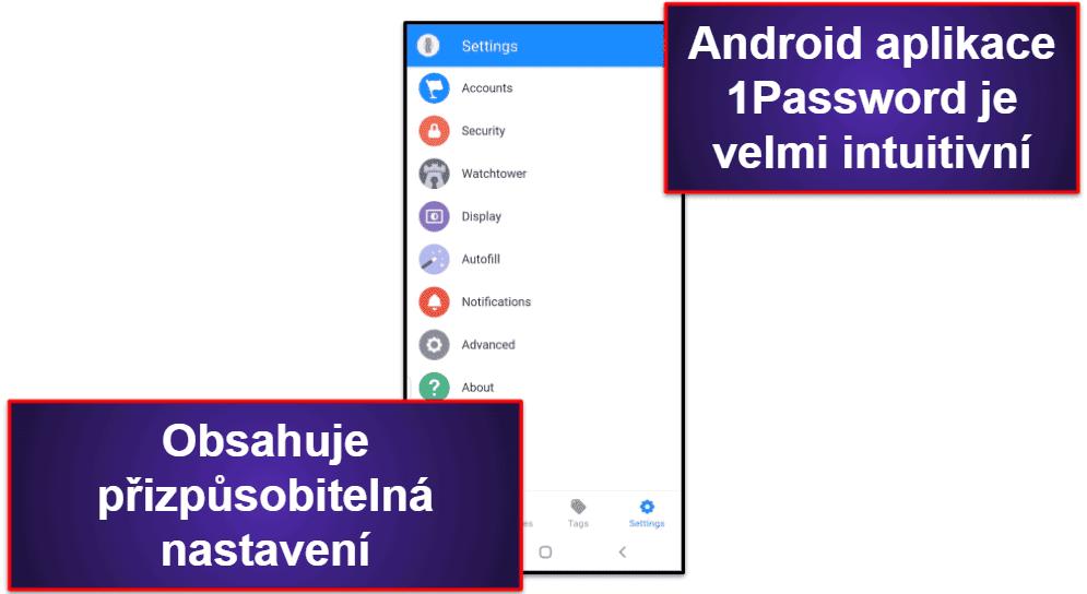 Mobilní aplikace 1Password