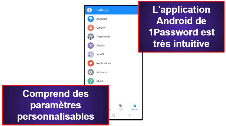 L'application mobile 1Password