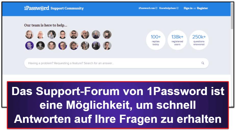 1Password Kundenservice
