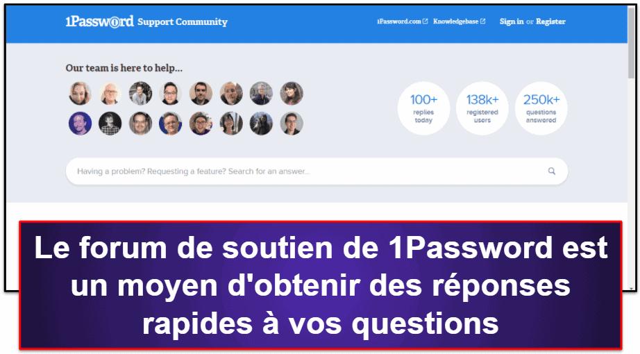 Support client 1Password