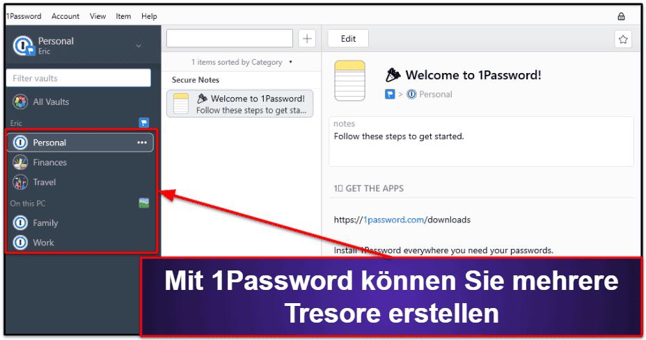 1Password Sicherheitsmerkmale