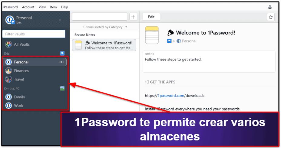 Funciones de seguridad de 1Password