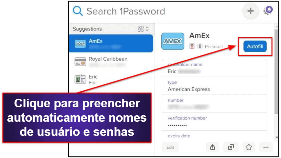 Recursos de segurança do 1Password