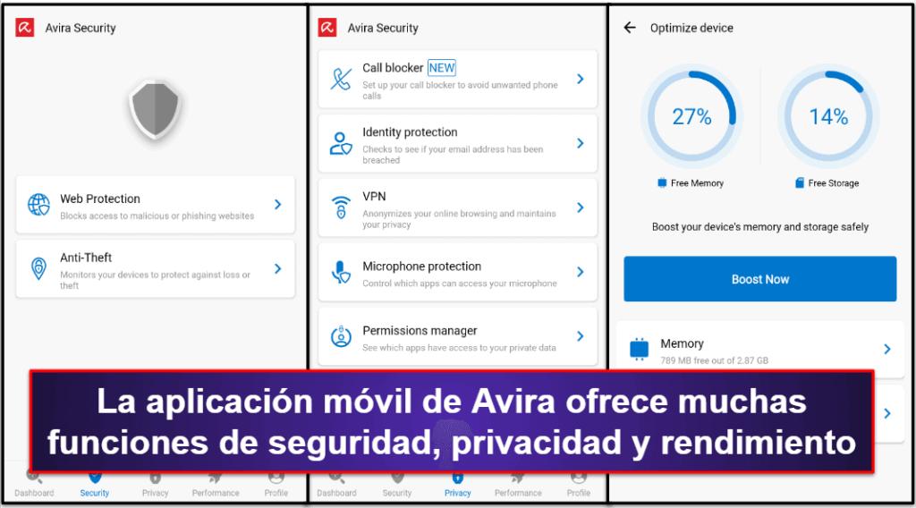App móvil de Avira