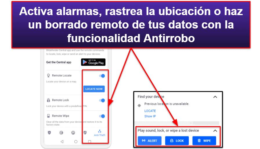App móvil de Bitdefender