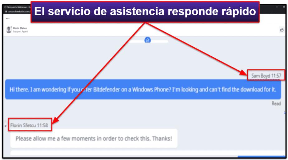 Servicio de Atención al Cliente de Bitdefender