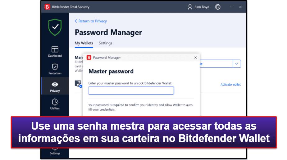Recursos de segurança do Bitdefender