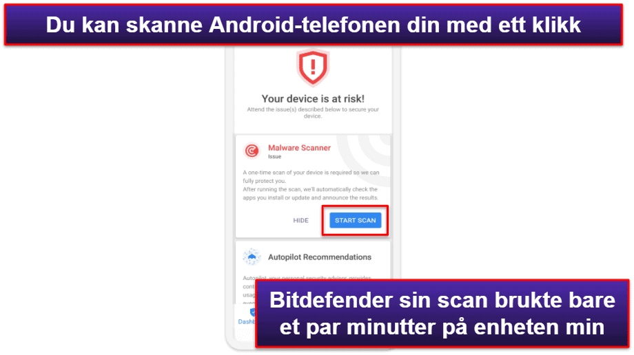 Bitdefenders mobilapp