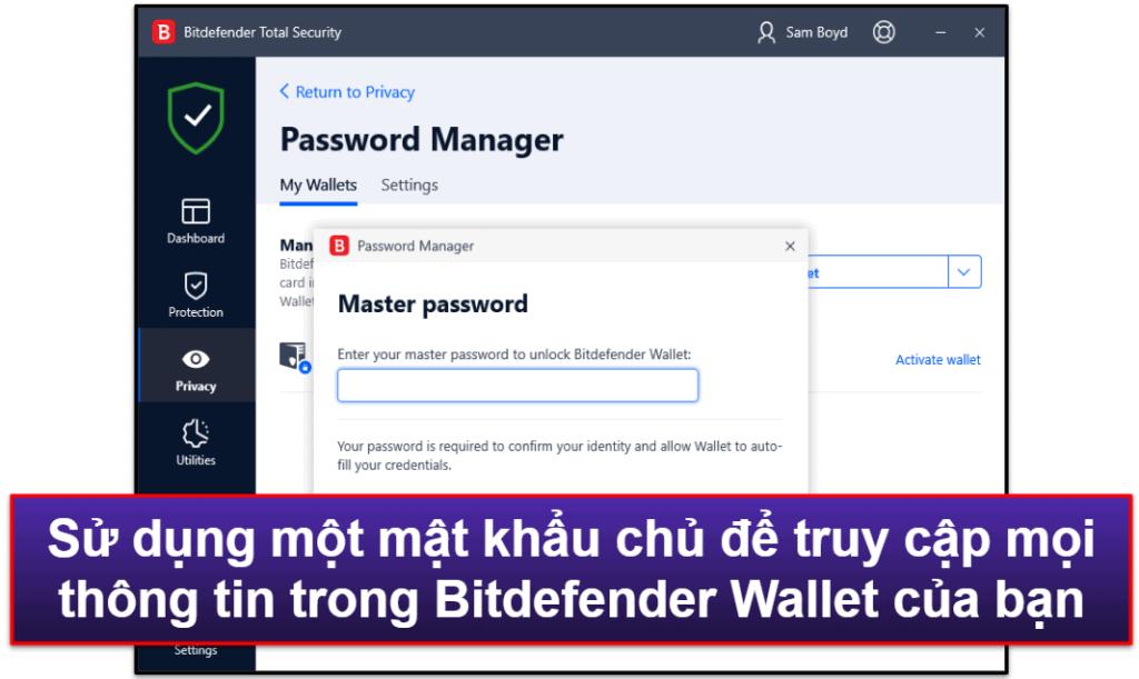 Tính năng bảo mật của Bitdefender