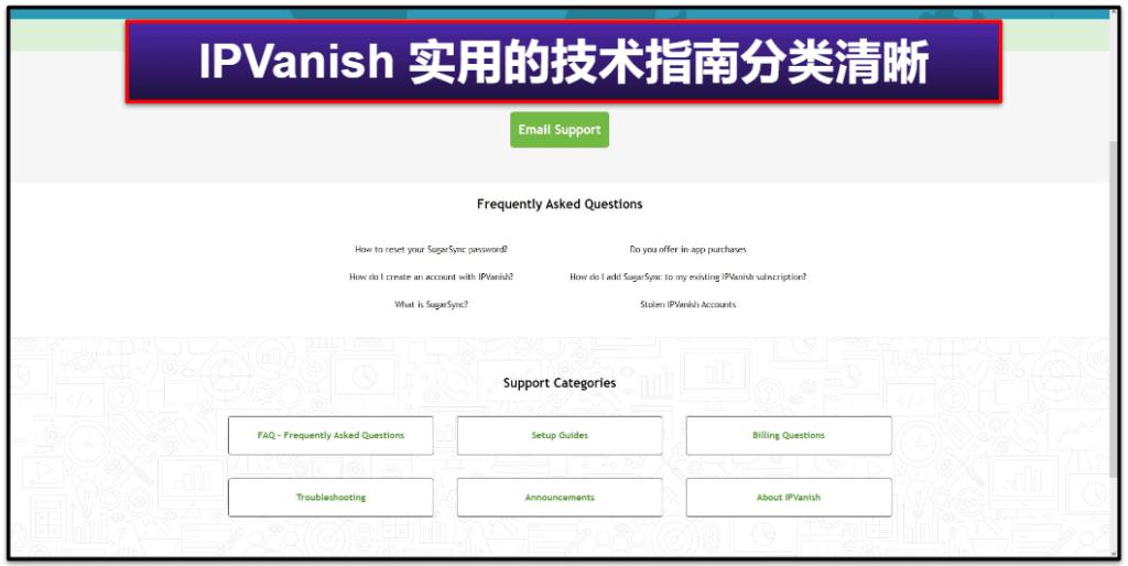 IPVanish 客户服务