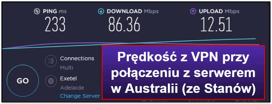 Prędkość i wydajność IPVanish