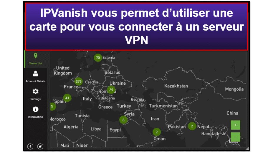 Facilité d'utilisation d'IPVanish: Applications mobiles et de bureau