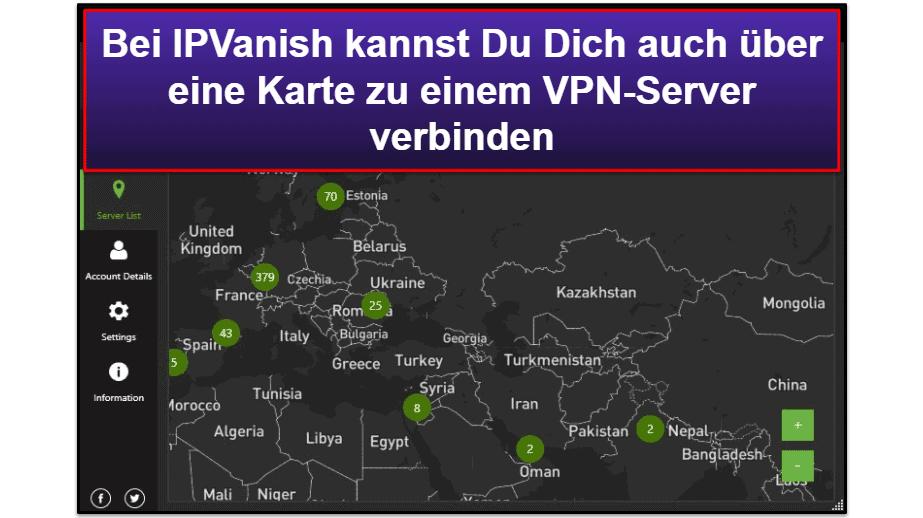 IPVanish – Bedienerfreundlichkeit: Mobile Apps & Desktopanwendungen