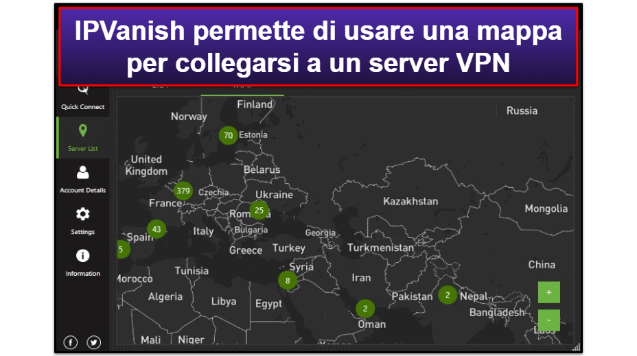 Facilità di utilizzo di IPVanish: app mobili e desktop
