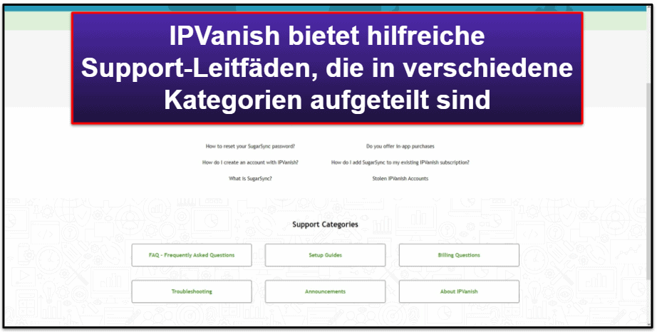 IPVanish – Kundensupport