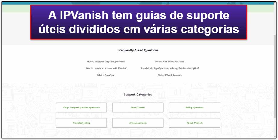 Suporte ao Cliente da IPVanish
