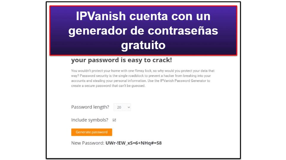 Características de IPVanish