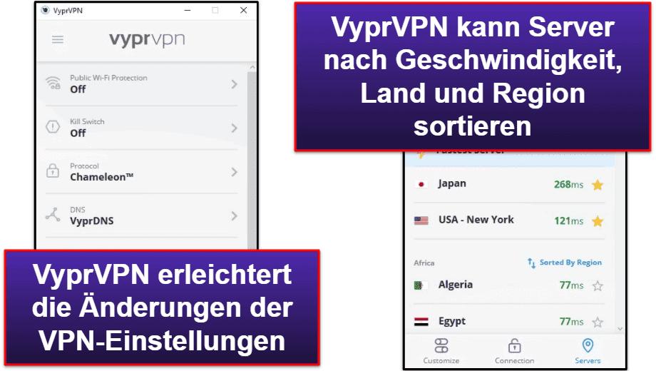 VyprVPN Benutzerfreundlichkeit: Mobile & Desktop Apps auf Deutsch