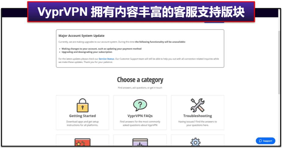 VyprVPN 的客户服务