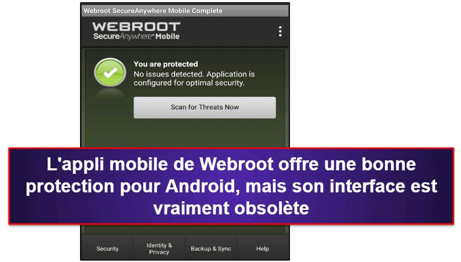 Appli mobile Webroot