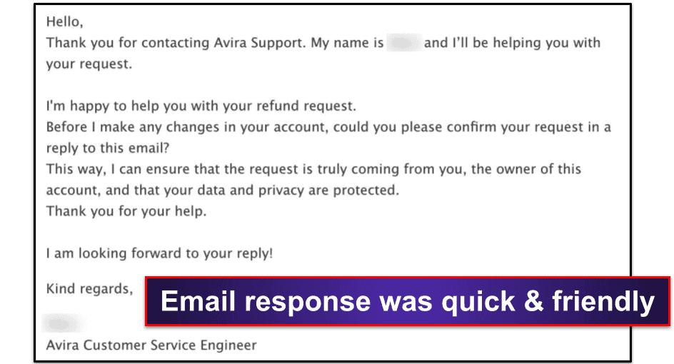 Avira Password ManagerCustomer Support