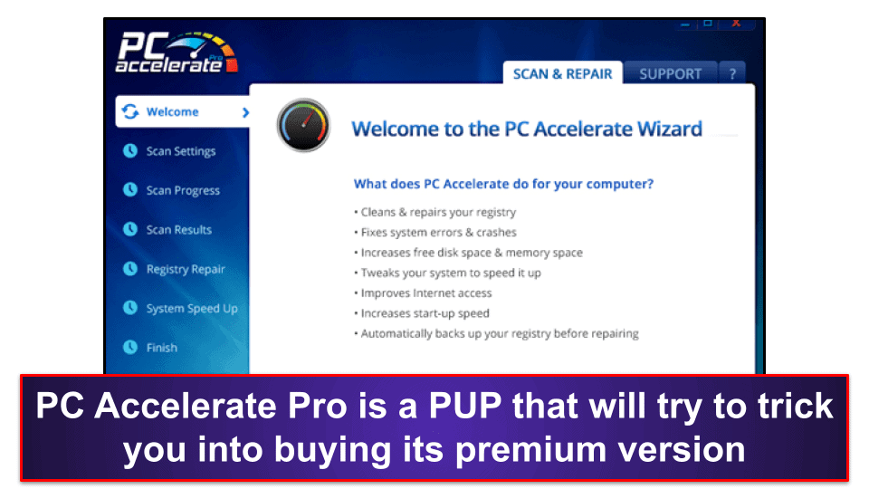 Preliminary Step: Uninstall PC Accelerate Pro & Instant Support
