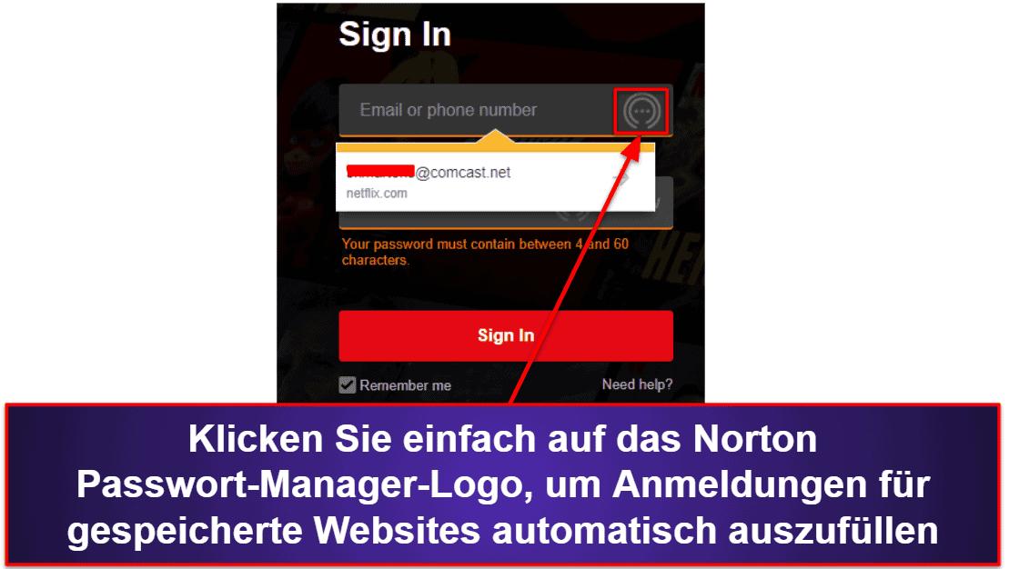 Norton Passwort-Manager Benutzerfreundlichkeit und Einrichtung