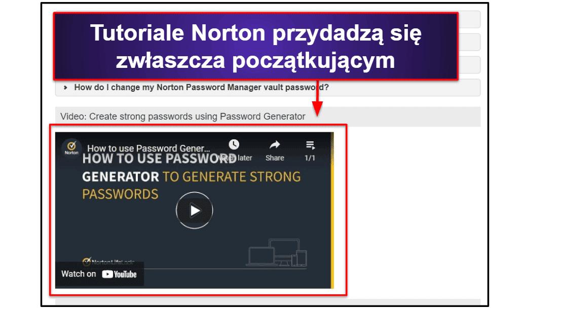 Obsługa klienta Norton Password Manager