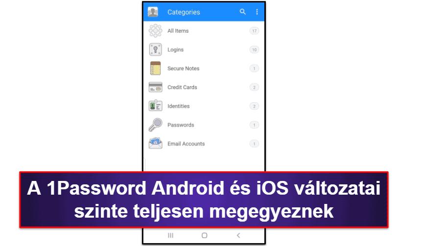 A 1Password mobil app