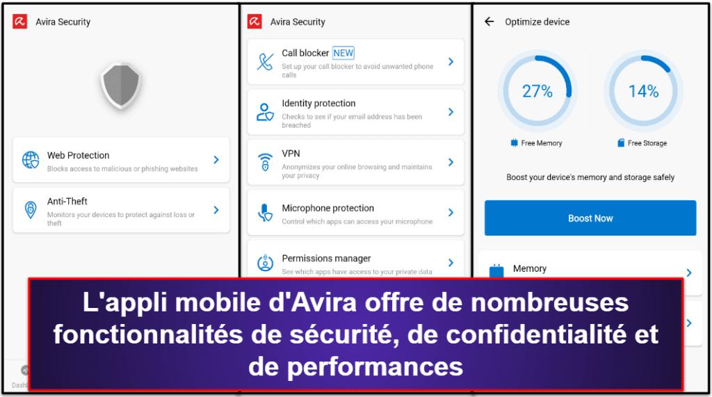 Application mobile d'Avira