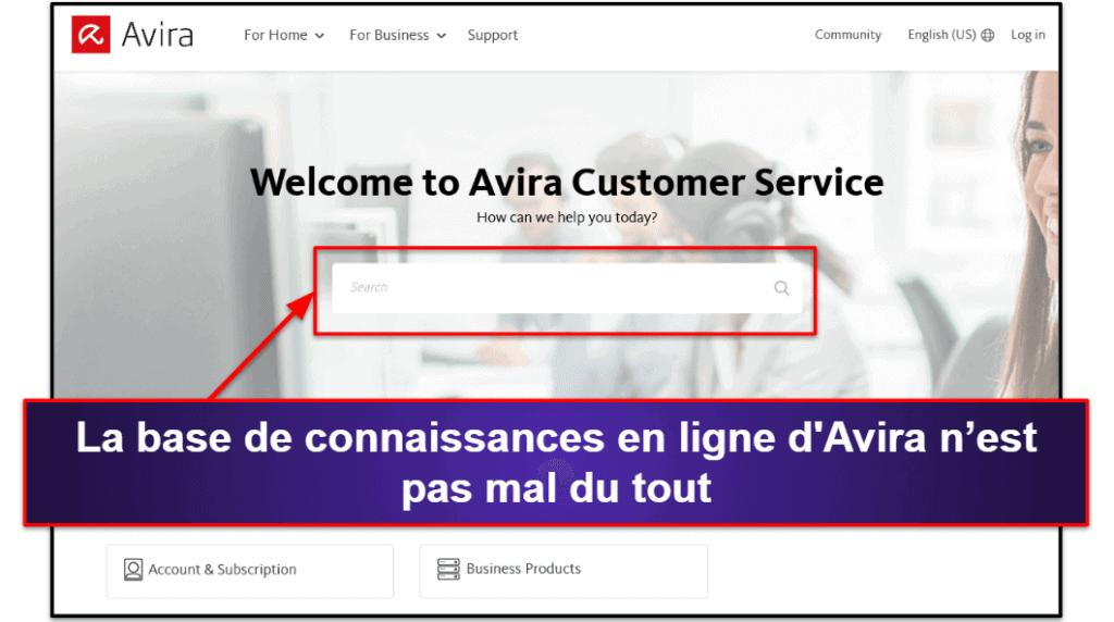 Assistance client d'Avira