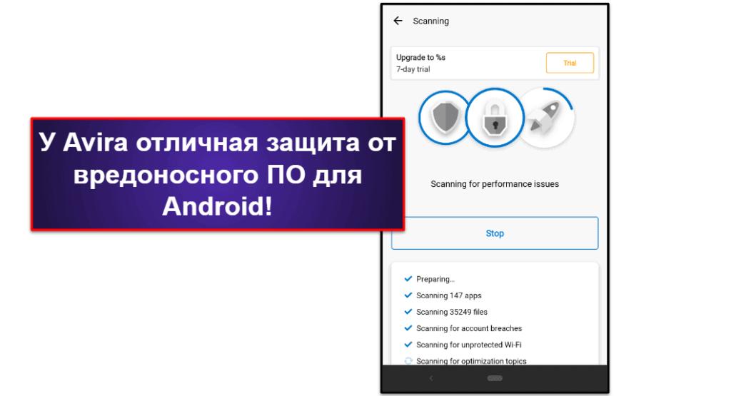 Мобильное приложение Avira