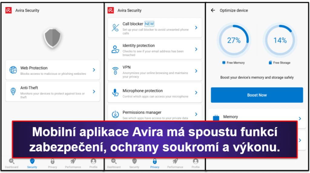 Mobilní aplikace Avira