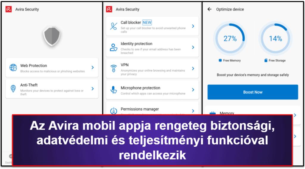 Avira mobilalkalmazás