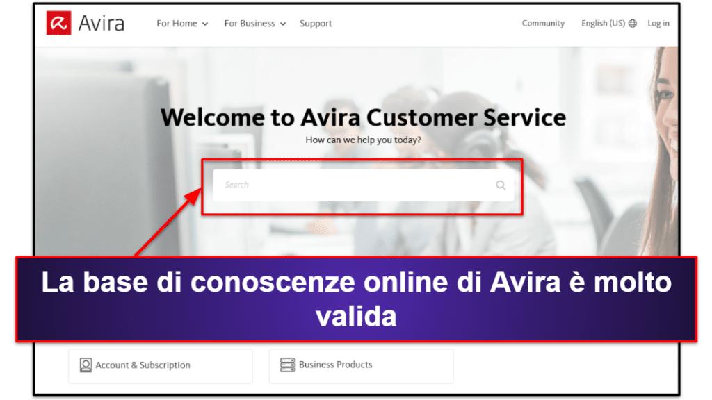 Assistenza clienti di Avira