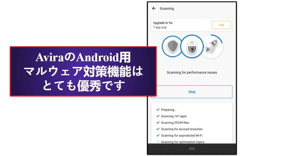 Aviraのモバイルアプリ