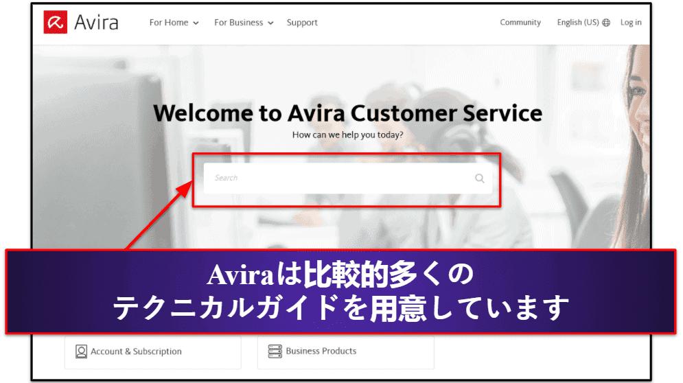 Aviraのカスタマーサポート