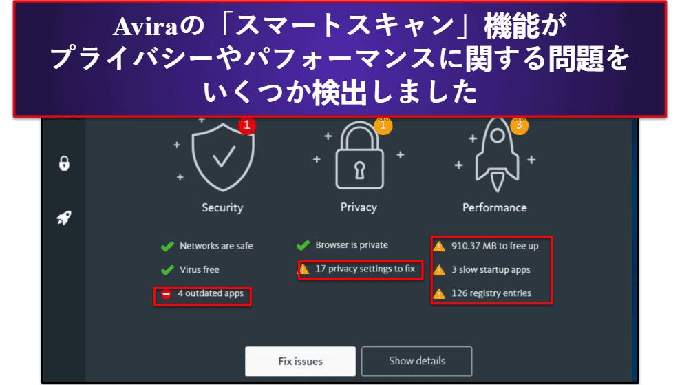 Aviraのセキュリティ機能