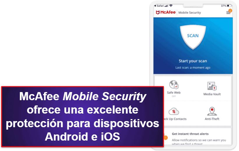 App móvil de McAfee