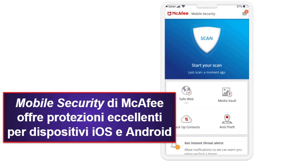 L'app mobile di McAfee