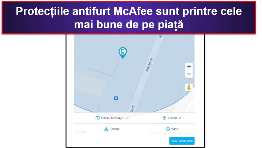 Aplicația mobilă McAfee
