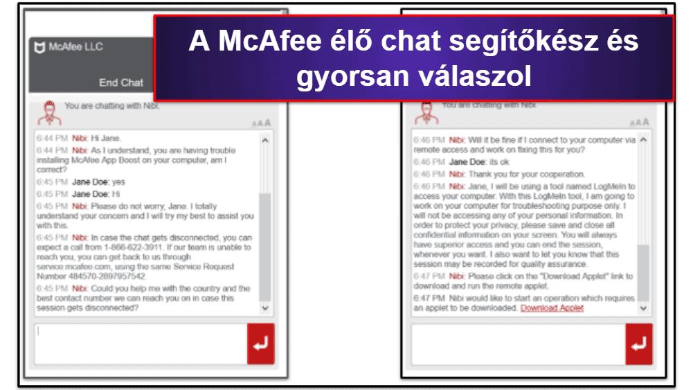 McAfee ügyfélszolgálat